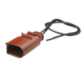 Tyco 1-1703543-2-PT - Vormontierter 1J0 973 822 A - 2-poliger gedichteter maennlicher Stecker mit Kabel 2.8 mm, 1-reihig, Codierung II, (neutral version)