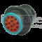 Deutsch HDP24-18-14PE-C041 - 14-poliges HDP20-Serie Buchsengehaeuse,  reduzierter Dichtungsdurchmesser (E-Seal), spezielle Kodierung, Flansch