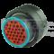 Deutsch HDP26-24-31SE - 31-poliger HDP20-Serie Stecker mit reduziertem Dichtungsdurchmesser (E-Seal)